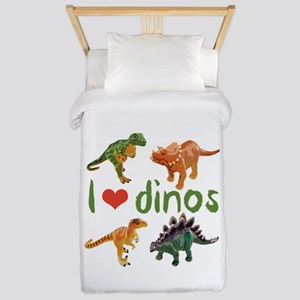 I Love Dinos Twin Duvet Cover