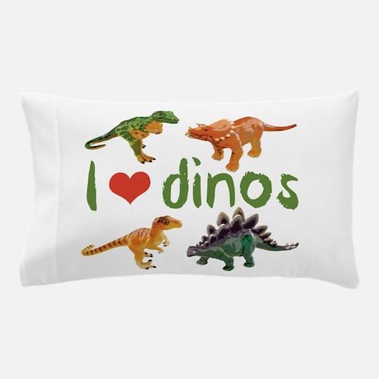 I Love Dinos Pillow Case