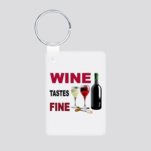WINE OCLOCK Aluminum Photo Keychain