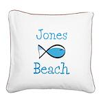 Jones Beach Square Canvas Pillow