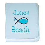 Jones Beach baby blanket