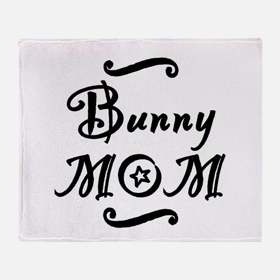 Bunny MOM Throw Blanket