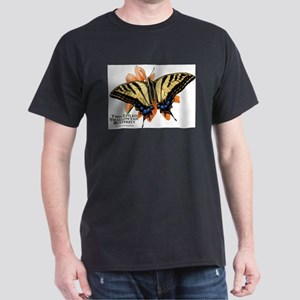 Two-Tailed Swallowtail Butterfly Dark T-Shirt
