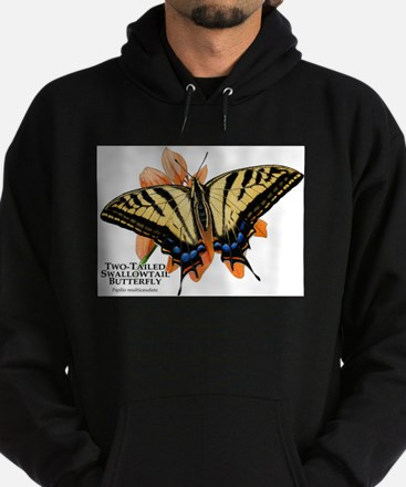 Two-Tailed Swallowtail Butterfly Hoodie (dark)