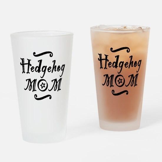 Hedgehog MOM Drinking Glass