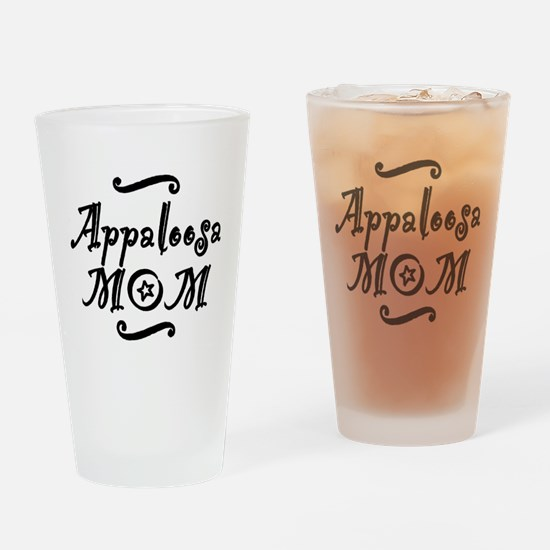 Appaloosa MOM Drinking Glass