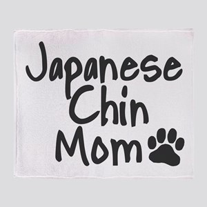 Japanese Chin MOM Throw Blanket