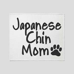 Japanese Chin MOM Throw Blanket