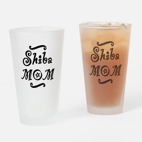 Shiba MOM Drinking Glass