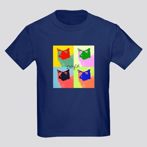 DollyCat Pop Art - Ragdoll Cat - Kids Dark T-Shirt