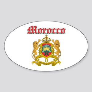 Morocco designs Sticker (Oval)