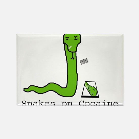 Snakes on Cocaine Rectangle Magnet
