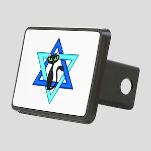 Jewish Cat Stars Rectangular Hitch Cover
