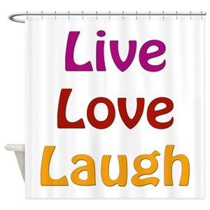 Colorful Live Laugh Love Shower Curtains