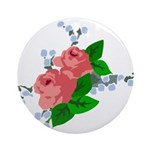 Vintage English Pink Roses Ornament (Round)