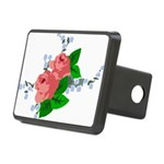 Vintage English Pink Roses Rectangular Hitch Cover