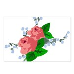 Vintage English Pink Roses Postcards (Package of 8