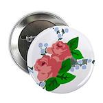 Vintage English Pink Roses 2.25