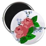 Vintage English Pink Roses Magnet