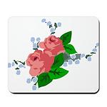 Vintage English Pink Roses Mousepad