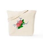 Vintage English Pink Roses Tote Bag