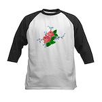 Vintage English Pink Roses Kids Baseball Jersey