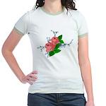Vintage English Pink Roses Jr. Ringer T-Shirt