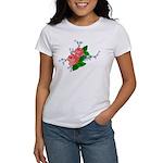 Vintage English Pink Roses Women's T-Shirt