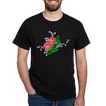Vintage English Pink Roses Dark T-Shirt