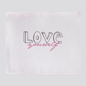 Love Yourself Throw Blanket