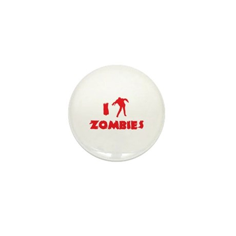 I Love Zombies Mini Button (10 pack)