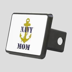 Navy Mom Rectangular Hitch Cover