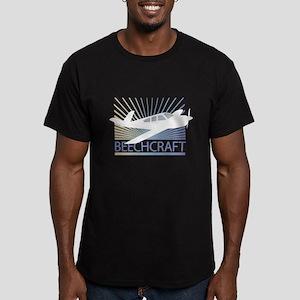 Aircraft Beechcraft Men's Fitted T-Shirt (dark)