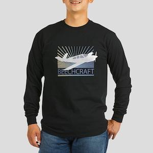 Aircraft Beechcraft Long Sleeve Dark T-Shirt