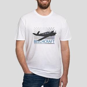 Aircraft Beechcraft Fitted T-Shirt
