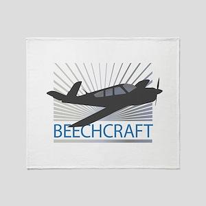 Aircraft Beechcraft Throw Blanket