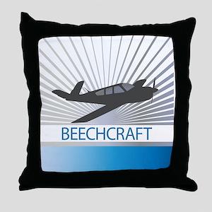 Aircraft Beechcraft Throw Pillow