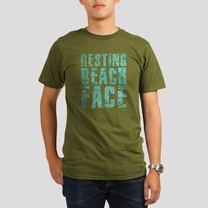 Resting Beach Face Pr Organic Men's T-Shirt (dark)