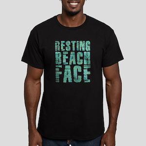 Resting Beach Face Pri Men's Fitted T-Shirt (dark)