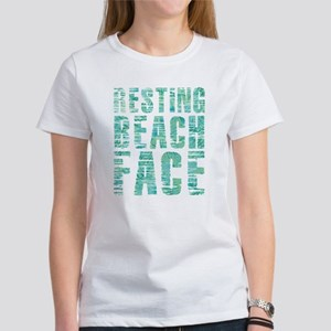 Resting Beach Face P Women's Classic White T-Shirt