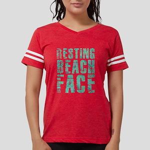 Resting Beach Face Print Womens Football Shirt