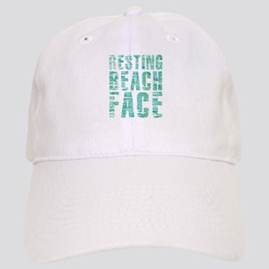 Resting Beach Face Print Cap