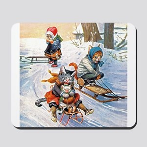 Cats in the Snow Mousepad