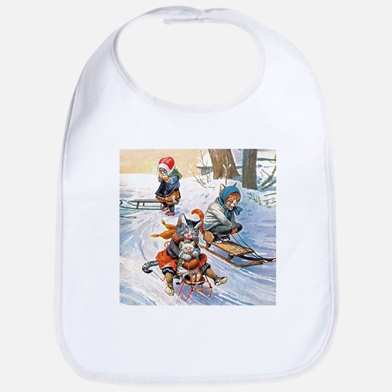 Cats in the Snow Bib