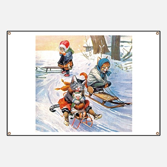 Cats in the Snow Banner