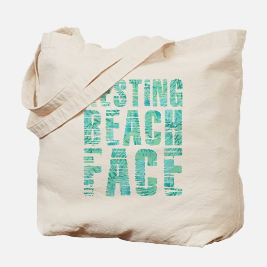 Resting Beach Face Print Tote Bag