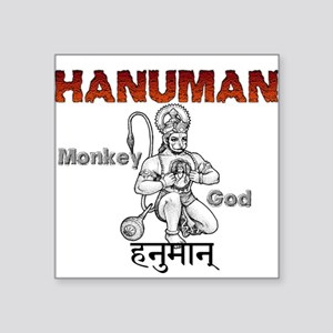 "Hindu Hanuman Square Sticker 3"" x 3"""
