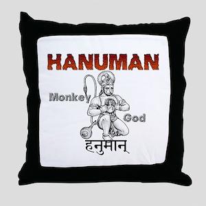 Hindu Hanuman Throw Pillow