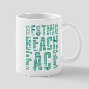 Resting Beach Face Print 11 oz Ceramic Mug