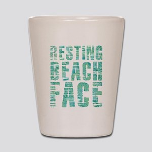 Resting Beach Face Print Shot Glass